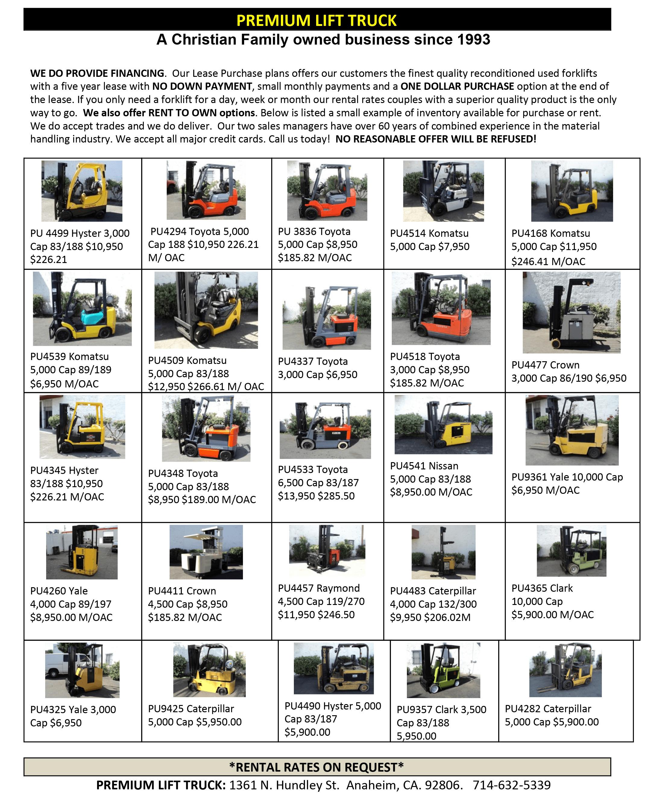 Forklift Trucks - Premium Forklifts